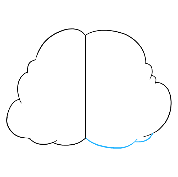 Cách vẽ não: Bước 5