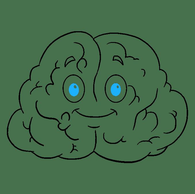 Cách vẽ não: Bước 9