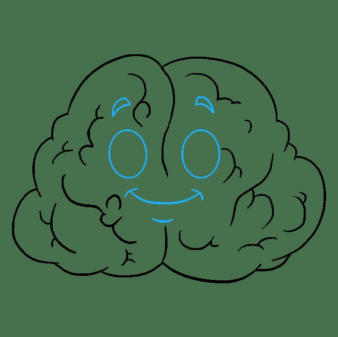 Cách vẽ não: Bước 8
