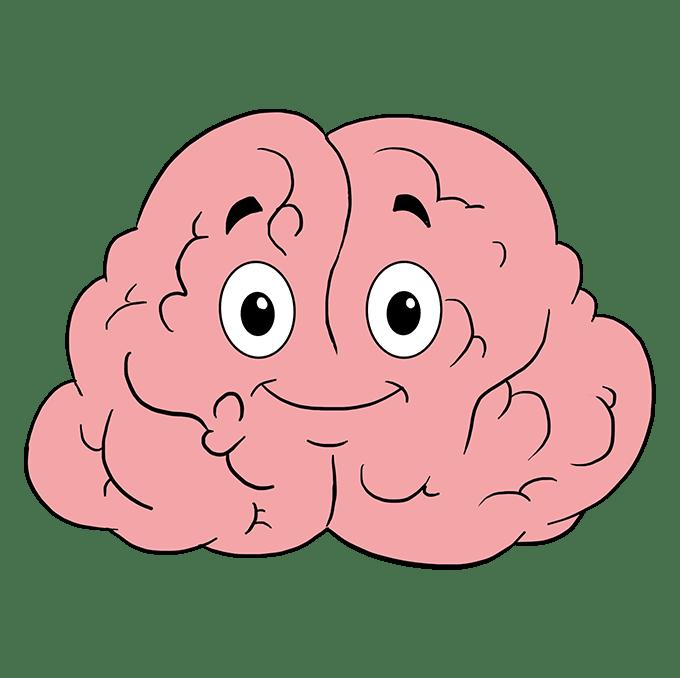 Cách vẽ não: Bước 10