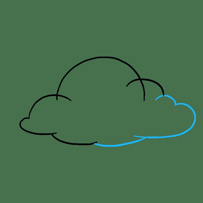 Cách vẽ mây: Bước 5