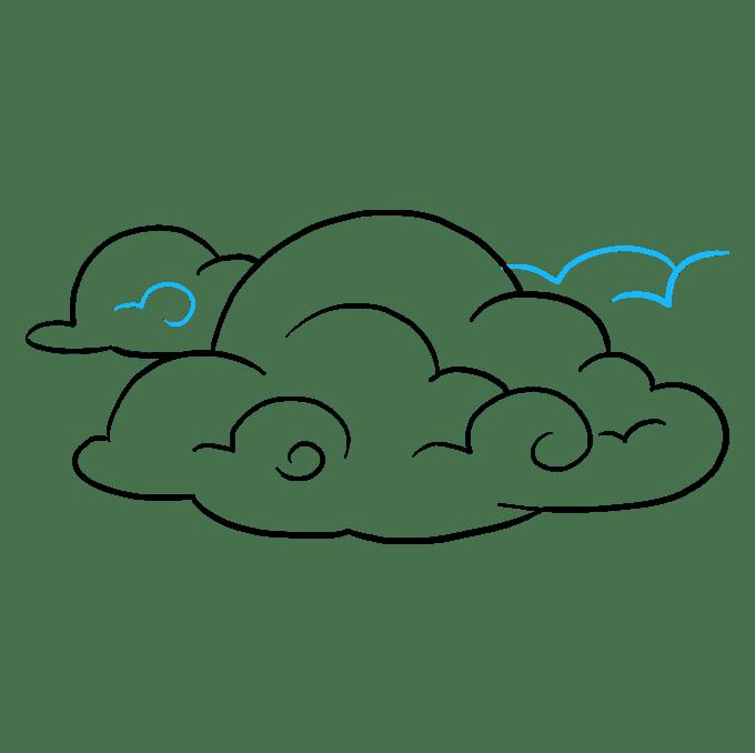 Cách vẽ mây: Bước 9