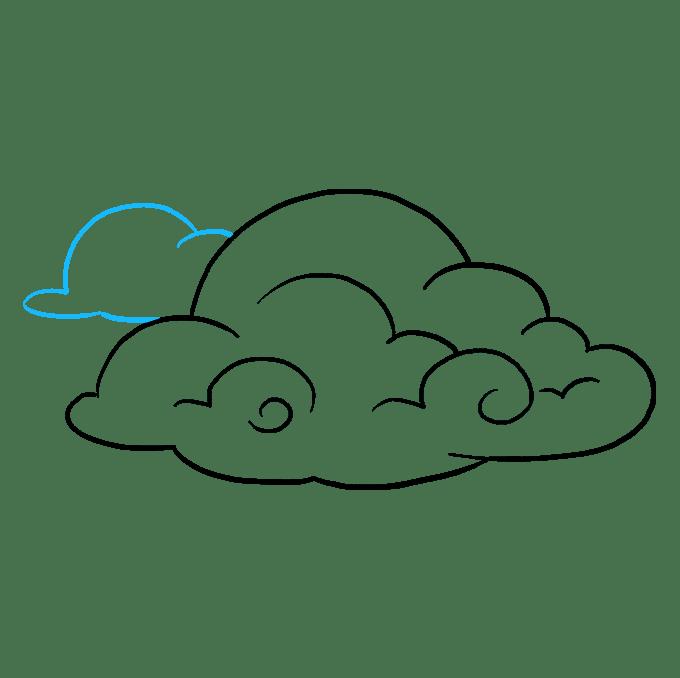 Cách vẽ mây: Bước 8
