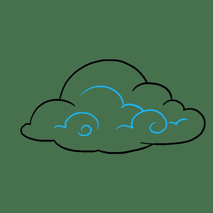 Cách vẽ mây: Bước 7