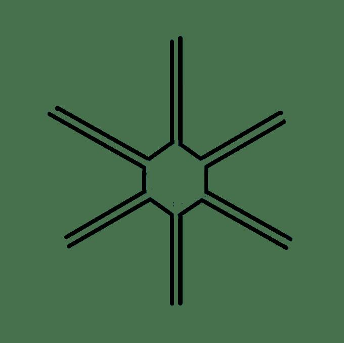 Cách vẽ bông tuyết: Bước 5