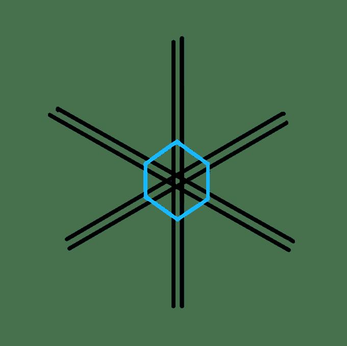 Cách vẽ bông tuyết: Bước 4