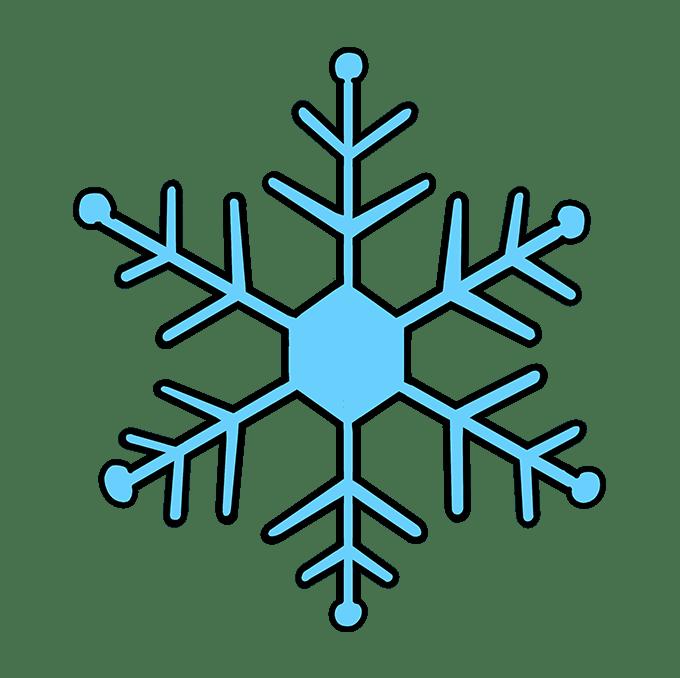Cách vẽ bông tuyết: Bước 10