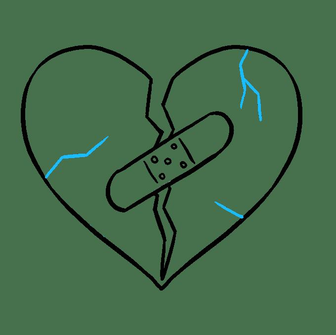 Cách vẽ trái tim tan vỡ: Bước 8