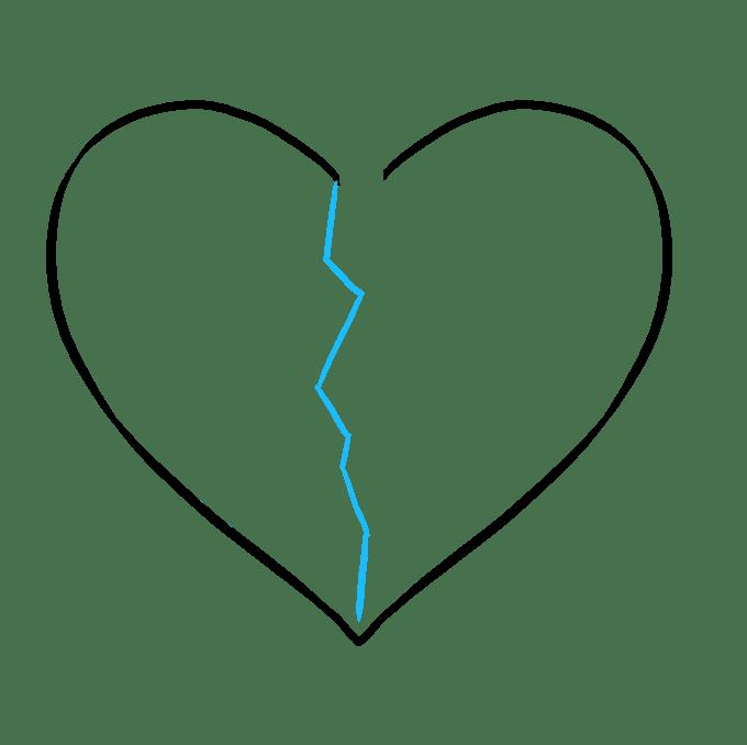 Cách vẽ trái tim tan vỡ: Bước 3