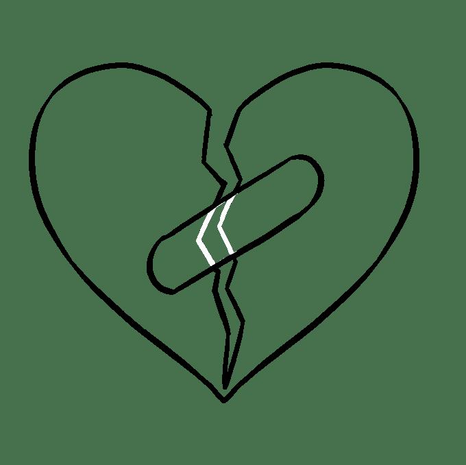 Cách vẽ trái tim tan vỡ: Bước 6