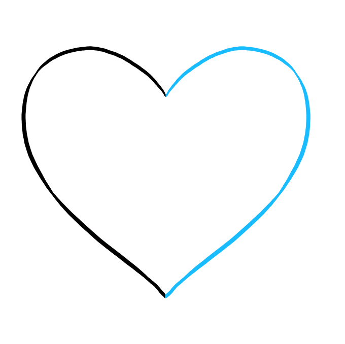Cách vẽ trái tim tan vỡ: Bước 2