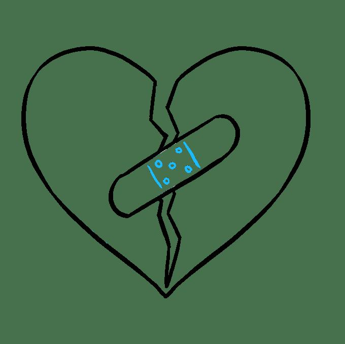 Cách vẽ trái tim tan vỡ: Bước 7