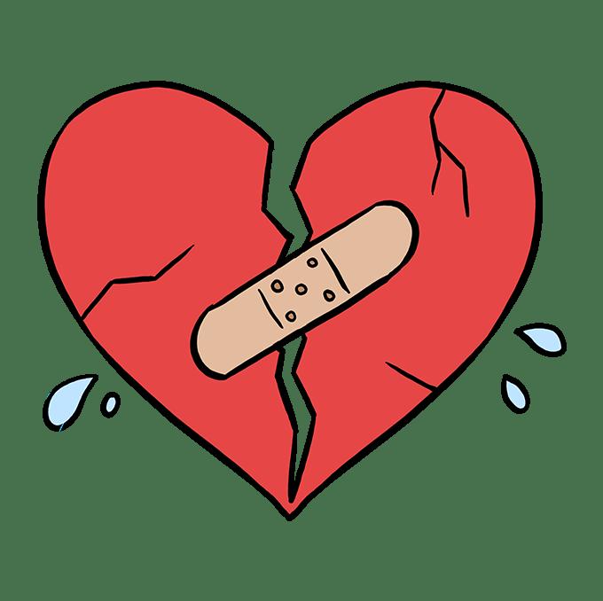 Cách vẽ trái tim tan vỡ: Bước 10