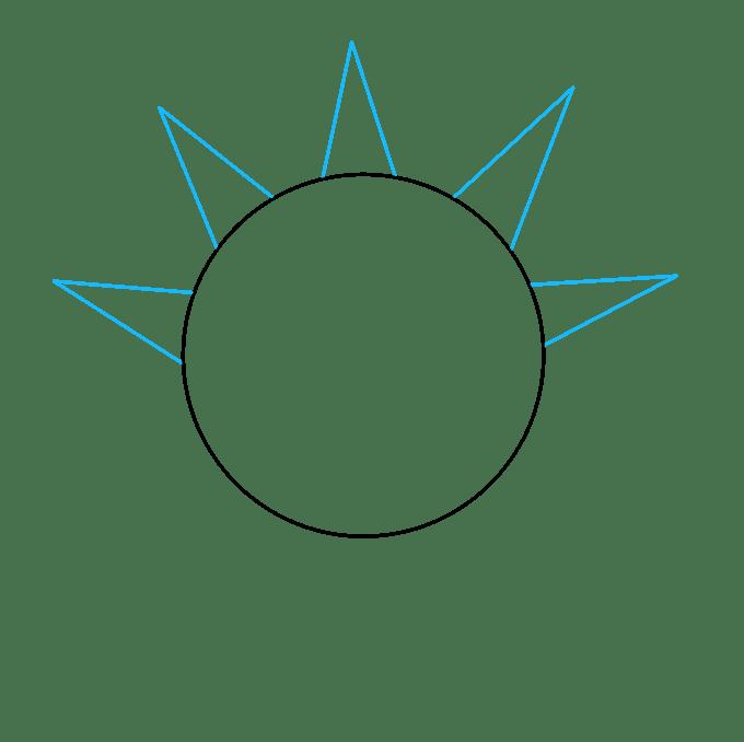 Cách vẽ mặt trời: Bước 2