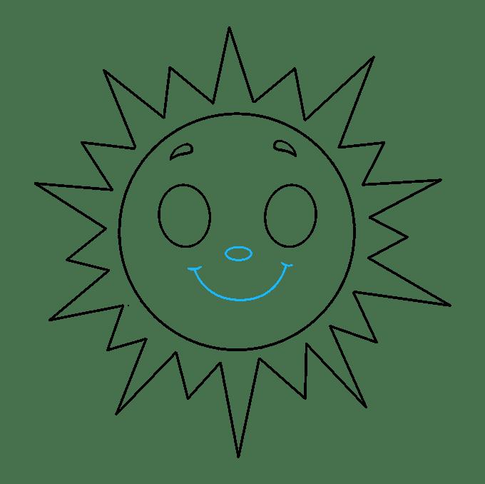 Cách vẽ mặt trời: Bước 8