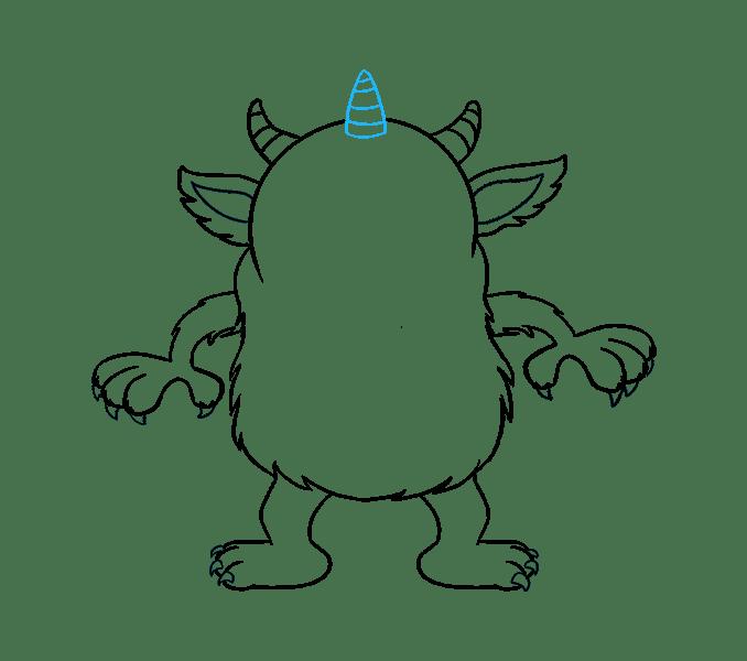 Cách vẽ quái vật hoạt hình: Bước 17