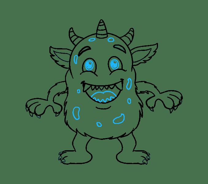 Cách vẽ quái vật hoạt hình: Bước 19
