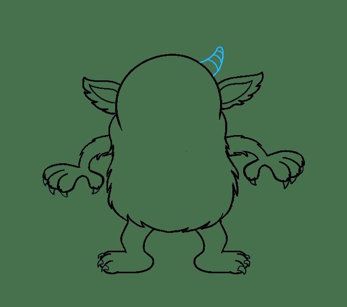 Cách vẽ quái vật hoạt hình: Bước 15