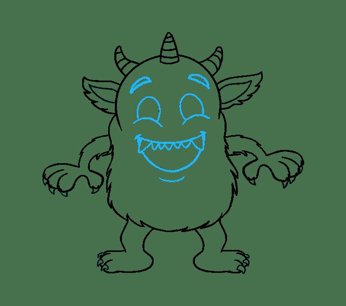 Cách vẽ quái vật hoạt hình: Bước 18