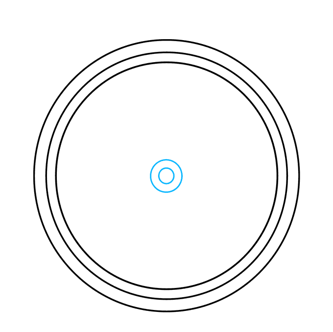 Cách vẽ La bàn: Bước 3