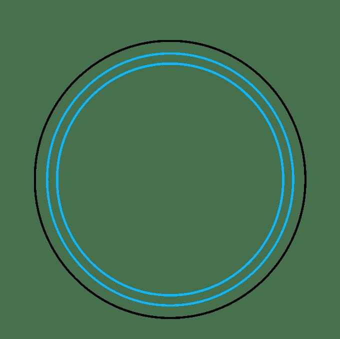 Cách vẽ La bàn: Bước 2