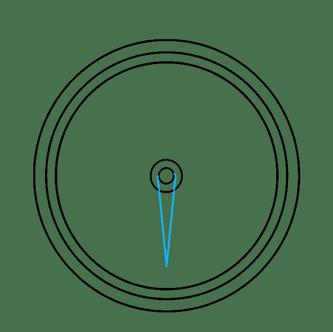 Cách vẽ La bàn: Bước 4
