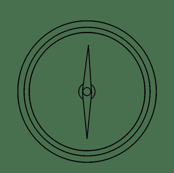 Cách vẽ La bàn: Bước 6