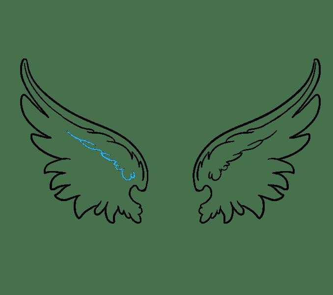 Cách vẽ đôi cánh thiên thần: Bước 10