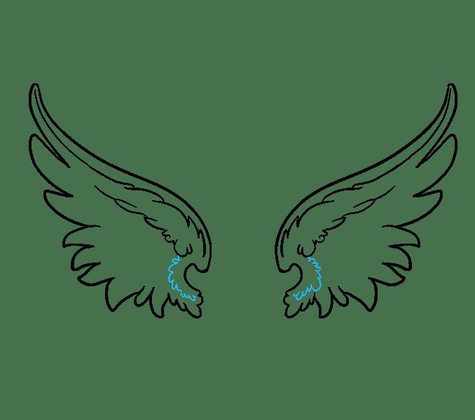 Cách vẽ đôi cánh thiên thần: Bước 11
