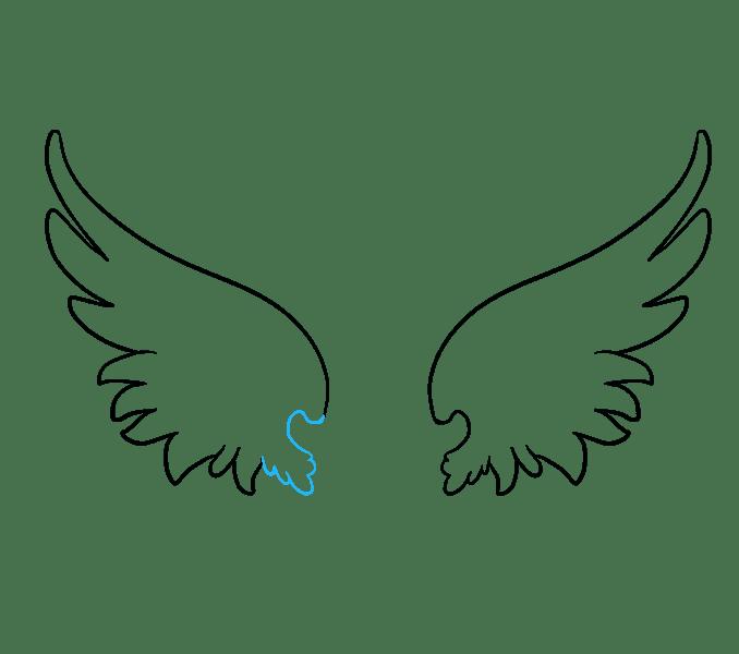 Cách vẽ đôi cánh thiên thần: Bước 7
