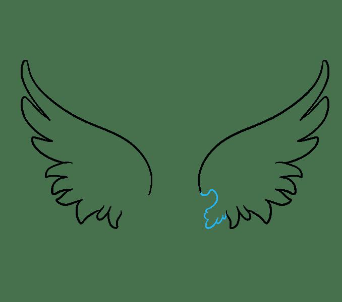 Cách vẽ đôi cánh thiên thần: Bước 6