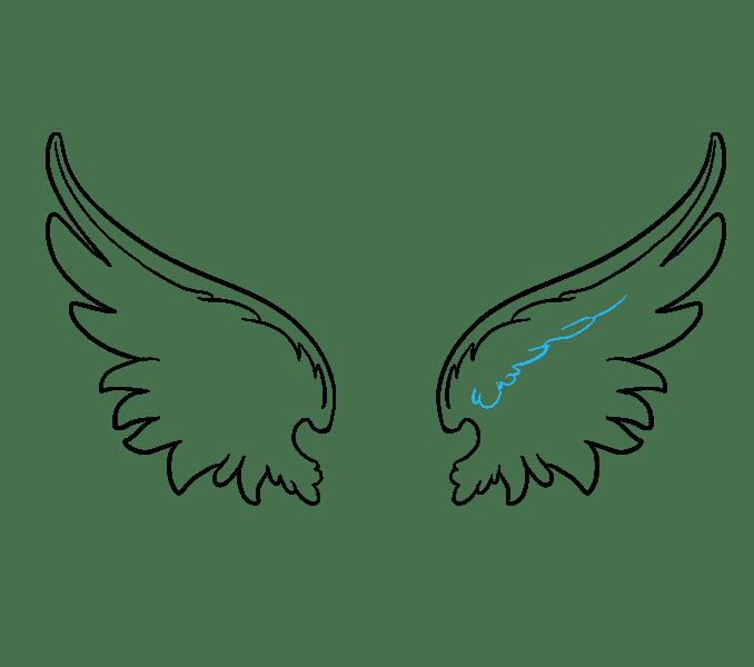 Cách vẽ đôi cánh thiên thần: Bước 9