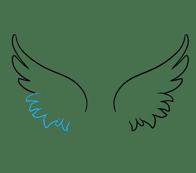 Cách vẽ đôi cánh thiên thần: Bước 5