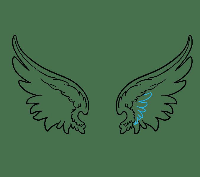 Cách vẽ đôi cánh thiên thần: Bước 12