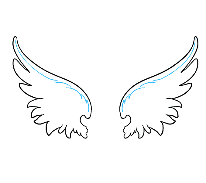 Cách vẽ đôi cánh thiên thần: Bước 8