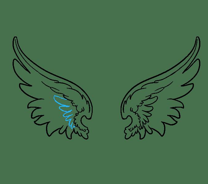 Cách vẽ đôi cánh thiên thần: Bước 13