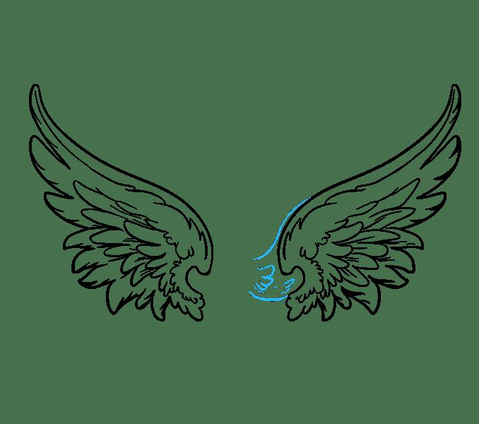 Cách vẽ đôi cánh thiên thần: Bước 17