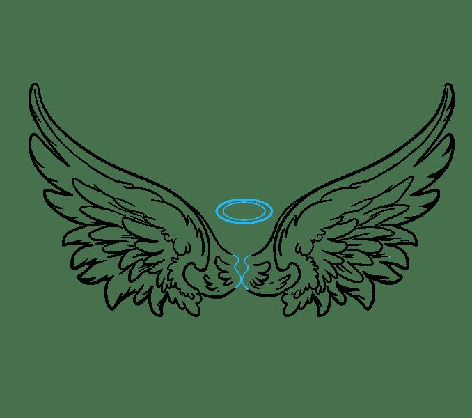 Cách vẽ đôi cánh thiên thần: Bước 19