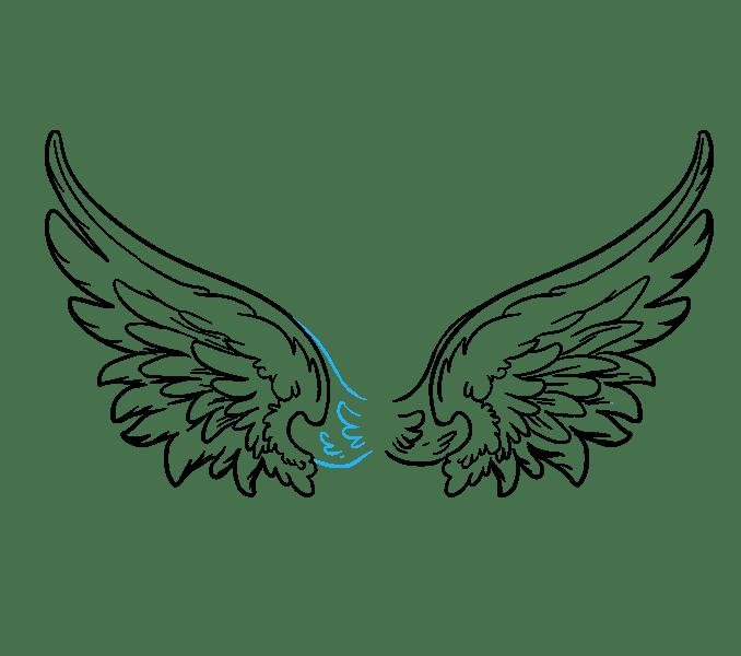 Cách vẽ đôi cánh thiên thần: Bước 18