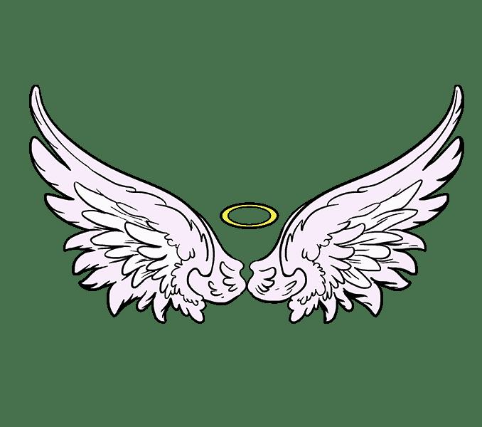 Cách vẽ đôi cánh thiên thần: Bước 20
