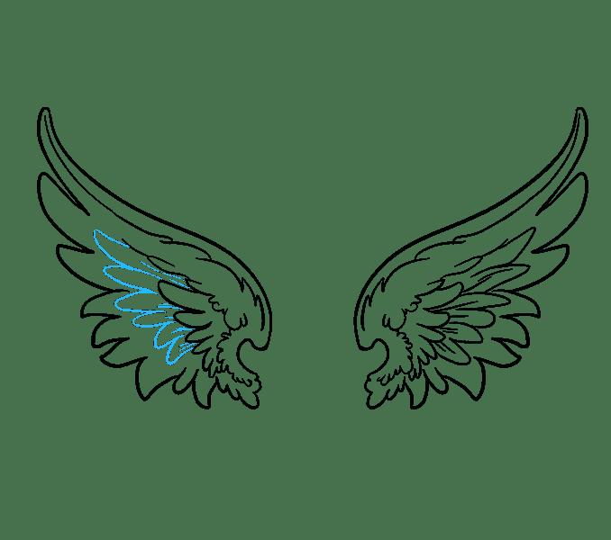 Cách vẽ đôi cánh thiên thần: Bước 15