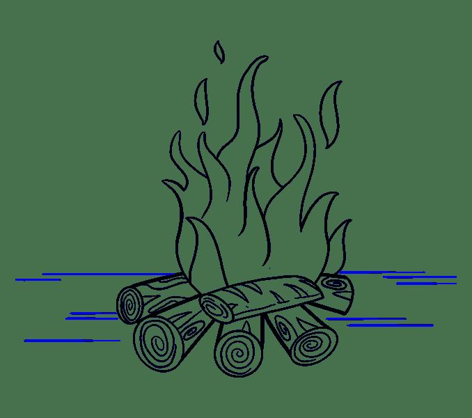 Cách vẽ lửa: Bước 19