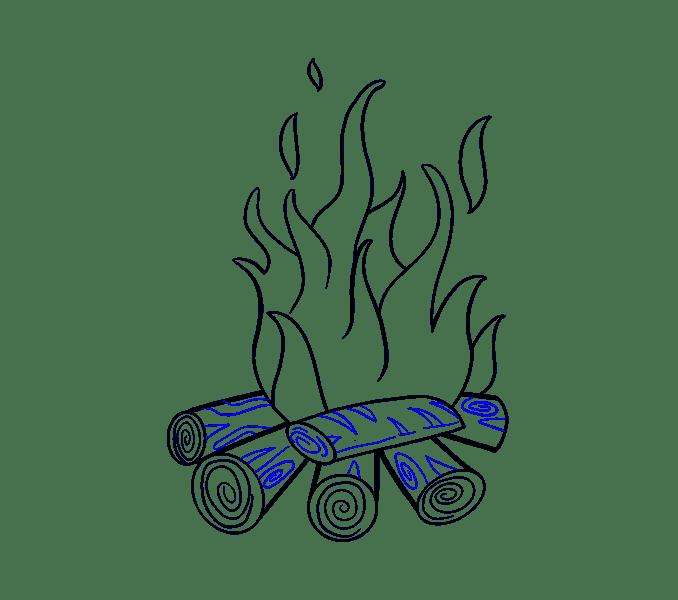 Cách vẽ lửa: Bước 18
