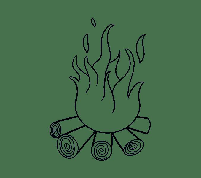 Cách vẽ lửa: Bước 14