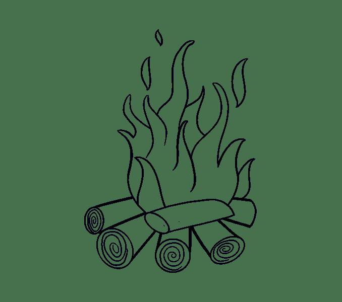 Cách vẽ lửa: Bước 17
