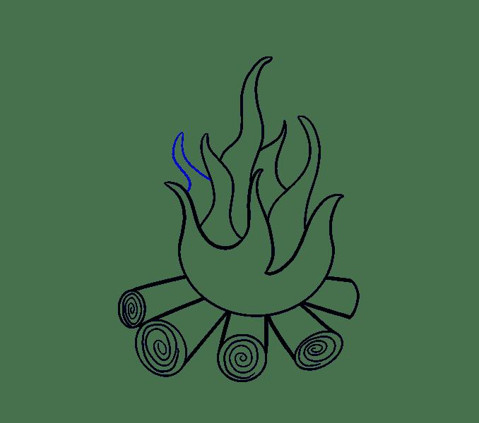 Cách vẽ lửa: Bước 12