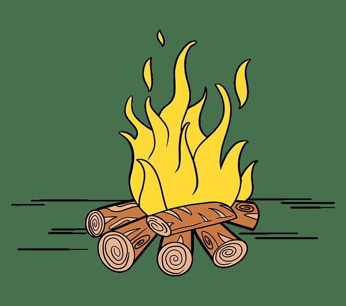 Cách vẽ lửa: Bước 20