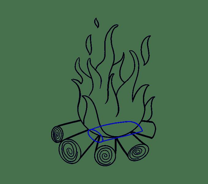 Cách vẽ lửa: Bước 16