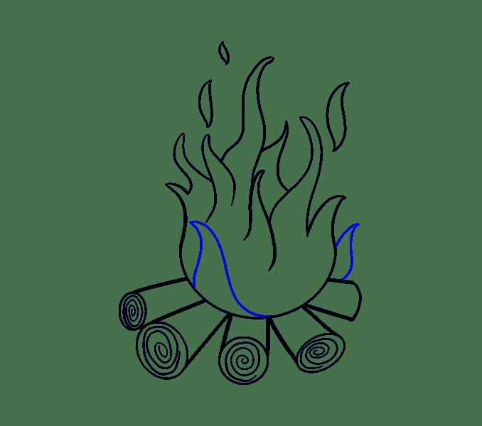 Cách vẽ lửa: Bước 15