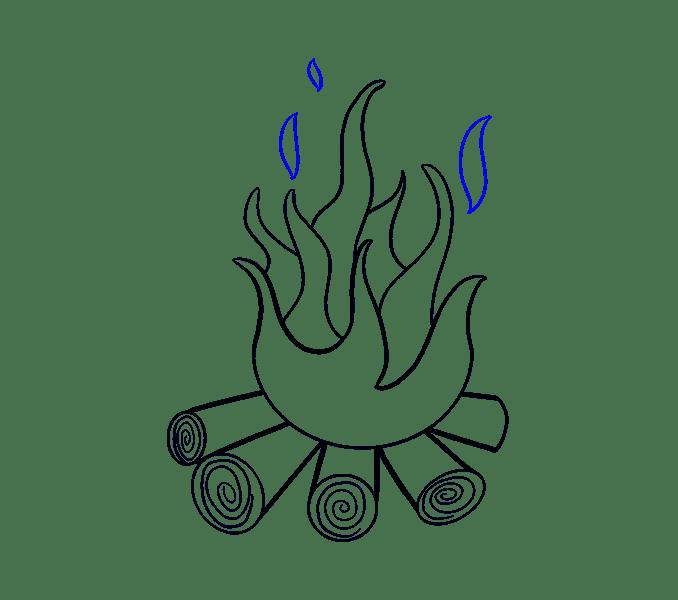 Cách vẽ lửa: Bước 13